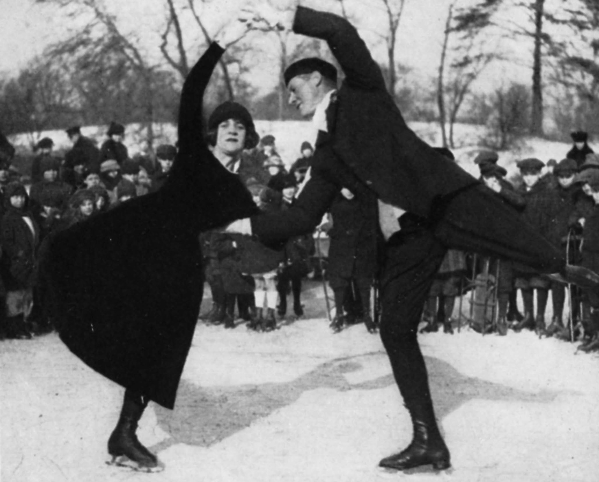 The face of NYC figure skating during the early 20th century, Irving Brokaw and Gertrude Porter Cheever won gold for their 10-Step at the 1920 Nationals.