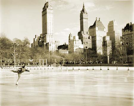 First annual figure skating championship at Wollman Memorial Rink in Central Park
