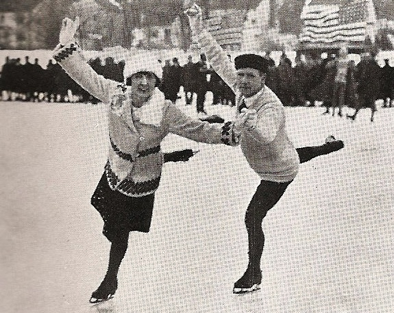 3-time US pairs medalists Grace Munstock and Joel Liberman won US silver in 1924 and took home bronze in 1925 and 26.