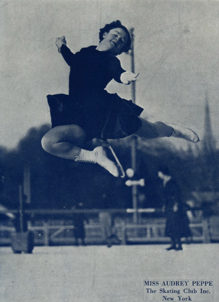 2-time US silver medalist Audrey Peppe was the 1936 U.S. bronze medalist and 1938-1939 silver medalist. She was also the niece of Beatrix Loughran, her coach