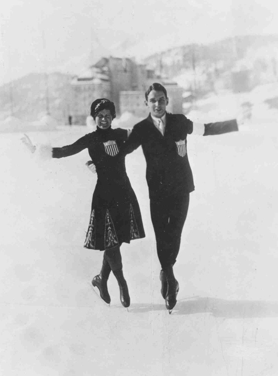 3-time US pairs champions Beatrix Loughran and Sherwin Badger also competed individually, separately amassing 8 national titles. Loughran is the only 3-time US figure skating Olympic medalist.