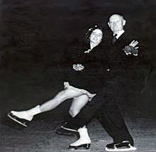 Marjorie Parker and Joseph Savage teamed to win the first official US national ice dancing championship in 1936. Savage was 57 at the time, having competed previously in men's singles and pairs.
