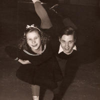 1942 US junior pairs champions, Eddie LeMaire and Dorothy Goos